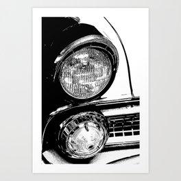 Vintage Car Taillights Art Print