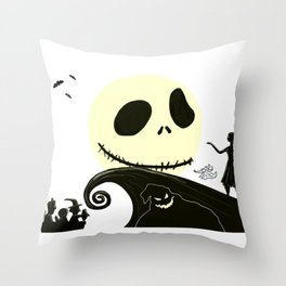 Jack in the Moon Throw Pillow