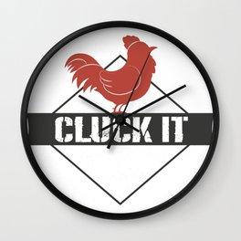 Chicken Funny Farmer Gifts Wall Clock