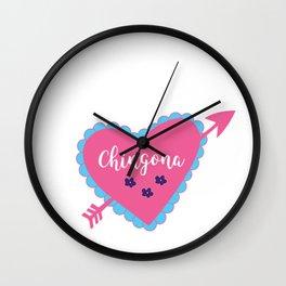 Chingona Heart Wall Clock