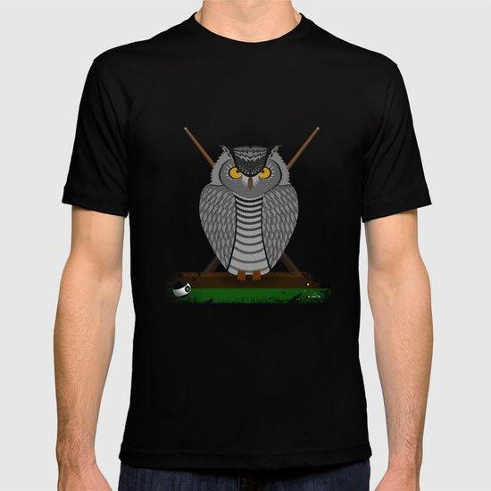owl playing billiards T-shirt