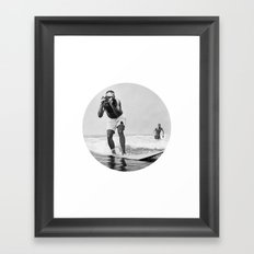The Surfing Photographer Framed Art Print