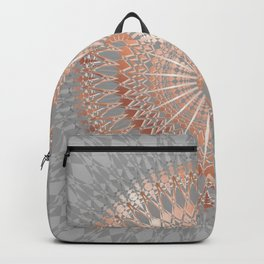 Rose Gold Gray Mandala Backpack
