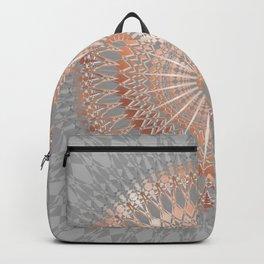 Rose Gold Gray Mandala Backpack