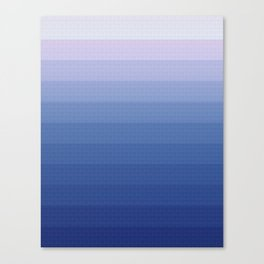 White and blue 2 Canvas Print