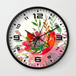 Flowers bouquet #37 Wall Clock