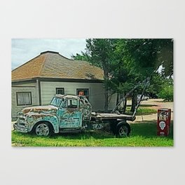Route 66 Towing Canvas Print