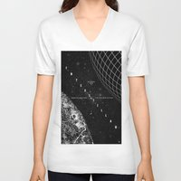 interstellar V-neck T-shirts featuring Interstellar by Amanda Mocci
