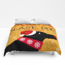 Black Dog Christmas Comforters