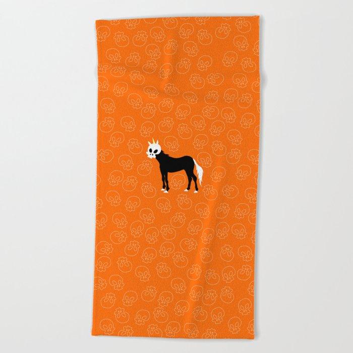 Skullhead Unicorn Beach Towel