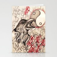ying yang Stationery Cards featuring Ying Yang  by Emalee Røse