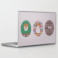 shiba inu Laptop & iPad Skins featuring Inu by Corinna Schlachter