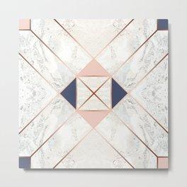 Copper & Marble & Pastel 02 Metal Print