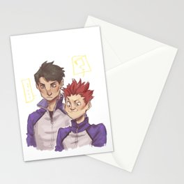 a strange pair Stationery Cards