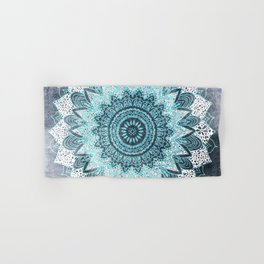 BOHOCHIC MANDALA IN BLUE Hand & Bath Towel