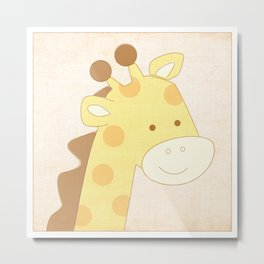 Giraffe Jungle Series Print Metal Print