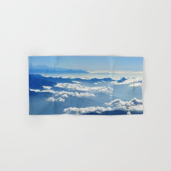 Mountains and Clouds in Nepal  Hand & Bath Towel
