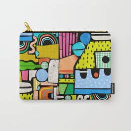 Color Block Collage Carry-All Pouch