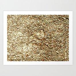 Gold crease Art Print