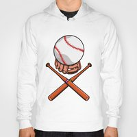 baseball Hoodies featuring Baseball by mailboxdisco