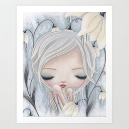 Silence of the Snowdrops Art Print