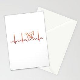 Kayaking Heartbeat Stationery Cards