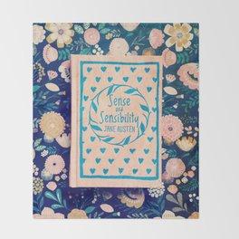 Sense and Sensibility Book Photo Throw Blanket