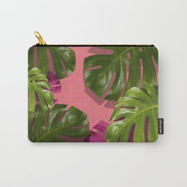 """""""Tropical monstera polka dots pastel pink"""" Carry-All Pouch"""