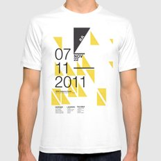 IGNS poster design MEDIUM Mens Fitted Tee White
