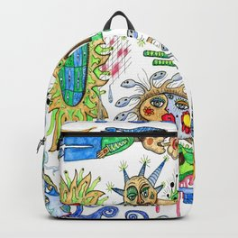watercolor doodle Backpack