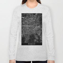 Munich Black Map Long Sleeve T-shirt