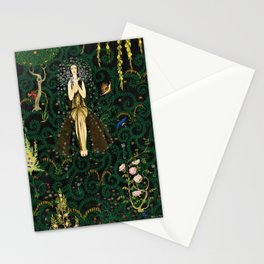1921 Classical Masterpiece 'Flowers and Flames' by Kay Nielsen Stationery Cards