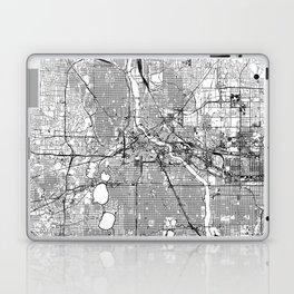Minneapolis White Map Laptop & iPad Skin