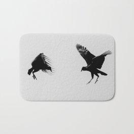 fighting buzzards Bath Mat