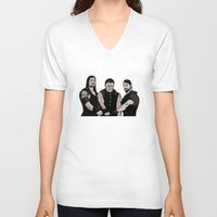 wwe V-neck T-shirts featuring WWE - The Shield by Chaotic Color
