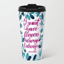 Matisse Watercolor Quotes Travel Mug