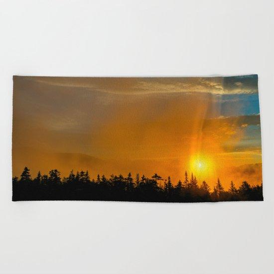 Gold Mist Sunset Beach Towel