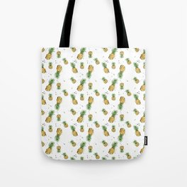 Small Pineapple Pattern Tote Bag