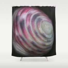 Nerita versicolor (mollusk shell) Shower Curtain