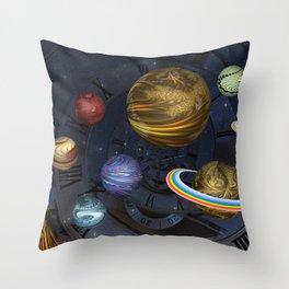 Planetary Time Spiral Throw Pillow