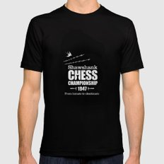 Shawshank Chess Championship X-LARGE Black Mens Fitted Tee