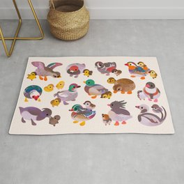 Duck and Duckling Rug