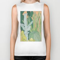 cacti Biker Tanks featuring Cacti by Julia Walters Illustration