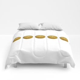 Yellow Pickleball Balls In A Row Comforters
