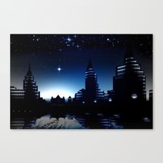 Night skyline. Canvas Print