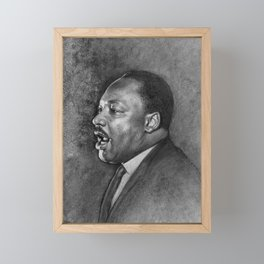 "Dr. King ""I've Been to the Mountaintop"" (April 3 1968) Framed Mini Art Print"
