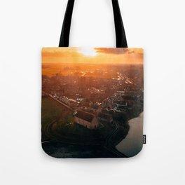 Ezinge Groningen The Netherlands during sunrise Tote Bag
