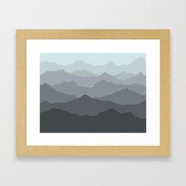 Mountain Mural Framed Art Print