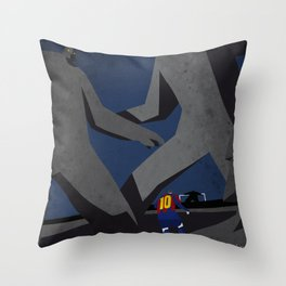 Leo and the monsters Throw Pillow