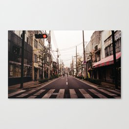 Sunday street analog Canvas Print